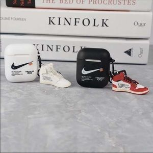 designer airpod cases with shoe keychain